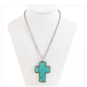 Jewelry - Turquoise cross necklace